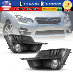 For 15 16 Subaru Impreza Fog Lights Clear Lens Car Lamp SwitchWiring Kit Pair $56.55