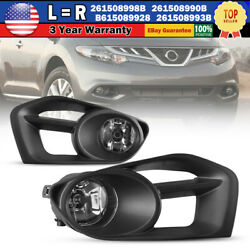 Clear Fog Lights Fits for 11 14 Nissan Murano Lamps Wiring Kit Switch LeftRight $47.99