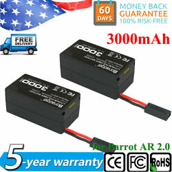 2X 11.1V 3000mAh LiPO Battery PACK for Parrot AR Drone 2.0 Li Polymer upgrade $34.99