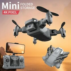 Mini Drone with 4K Camera Hd Foldable Quadcopter Return Wifi Fpv Helicopter Rc $44.98