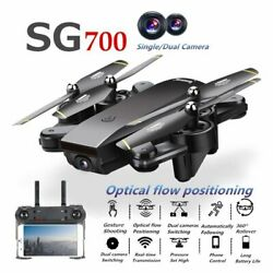 Foldable Pocket Drone Wifi FPV 2.4G RC Quadcopter Dual 2MP FHD Camera Real Time $64.99