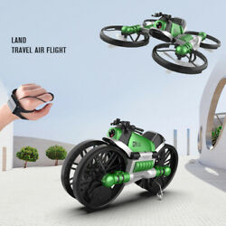 Wi F FPV RC Drone Motorcycle 2 in 1 Foldable Helicopter Camera 0.3MP Altitude $56.99