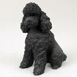 Poodle Figurine Hand Painted Collectible Statue Black Sportcut $19.99