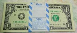 * 2017 $1.00 STAR PACK #1 quot;Kquot; $100 DALLAS FED RESERVE NOTES w BEP Wrapper $235.00