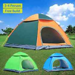 3 4 Person Waterproof Tent Camping Sport Outdoor Beach Hiking Automatic Instant $24.99