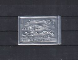 B821. Sharjah MNH Space Spaceship Silver Imperf $0.99
