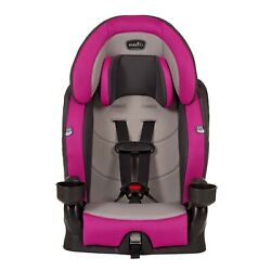 Evenflo Chase Plus Booster Car Seat Dual Cup Holders Up front adjustable $68.00