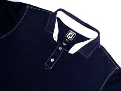Footjoy golf polo shirt large short sleeve blue FJ $17.99