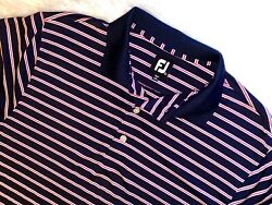 Footjoy golf polo shirt large striped short sleeve FJ $14.99