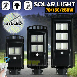 990000LM Commercial Solar Street Light Dusk to Dawn Super Bright FloodLightPole