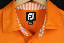 FootJoy Mens Sz Medium Orange Short Sleeve Polo Shirt $28.99
