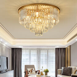 Luxury Dia 23.6quot; K9 Crystal Chandelier Modern Ceiling Lighting w Remote Control $168.34