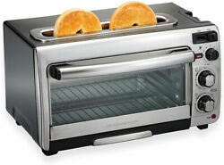 Hamilton Beach 2 in 1 Countertop Oven and Long Slot Toaster Stainless Steel H14Q $61.57