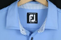 FootJoy Mens Sz 2XL Blue Prodry Lisle Polo Short Sleeve Shirt $28.99