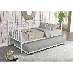 Daybed With Trundle Twin Beds Modern For Home Bedroom Living Room US Stock $215.83