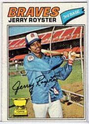 1977 TOPPS #549 JERRY ROYSTER IN EX CONDITION BRAVES $1.00