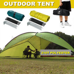 4.8m Portable Large Outdoor Camping Tent Beach Canopy UV Sun Shade Shelter $77.66