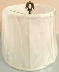 Waterford Fabric Table Lamp Shade Ivory Tapered Drum 11quot;x15x11quot; #937340 New $96.90