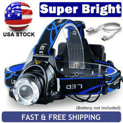 Rechargeable Tactical 990000LM LED Headlamp Zoomable Headlight Head Torch Lamps $11.80