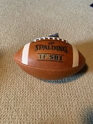 Spalding Football TF SB1 Spiral Balance Full Size Leather NFHS Approved Sale $22.00