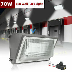 70Watt LED Wall Pack Light Dusk to Dawn Lights 5500K Outdoor Commercial Lighting