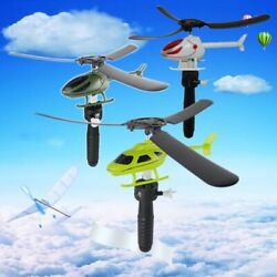 Outdoor Toy Helicopter for Kids Pull String Control Helicopter Flying Kids Gift $2.98