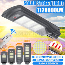 840000LM Commercial LED Solar Street Light Motion Sensor Dusk to DawnRemotePol