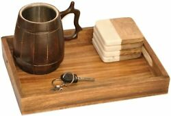 Handmade Wooden Tray for Kitchen Coffee Table Tray Food Tray Wooden Tray $17.49