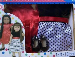 """Fits American Girl Fancy Party Dress Set Shoes Springfield Clothes For 18""""Doll $4.95"""
