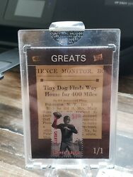 2019 The Bar Pieces Of The Past Sammy Baugh Stamp w vintage 1943 newspaper 1 1 $39.00