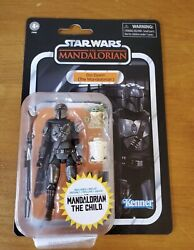 Star Wars Vintage Collection Din Djarin The Mandalorian with The Child In Hand $24.33