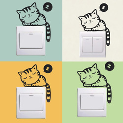 Stickers Switch Wall Home Decal Cat Sleeping Cute Diy Funny Dog Sticker Vinyl us $0.99