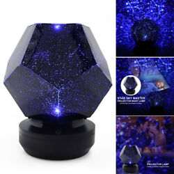 LED Galaxy Starry Night Lights Projector Star Sky Bedroom Lamp Party Decor Gift $19.79