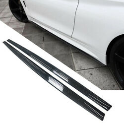 Side Skirts For 2014 2020 BMW F32 F33 F36 4 Series Extension Carbon Fiber Style $269.98