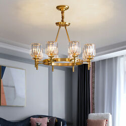 6 Light Modern Crystal Chandeliers Dinning Room Ceiling Fixtures Pendant Lamps $179.48