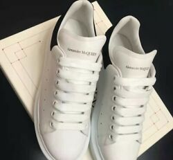 Super classic little white shoes black man Alexander McQueen free shipping $290.05