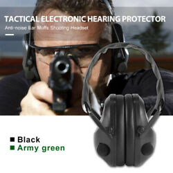 Folding Electronic Ear Muffs Hearing Noise Protection Hunting Shooting headset $28.39