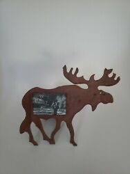 Rustic Metal Moose Picture Frame by Weston Gallery Cabin Decor Rustic Style $14.99