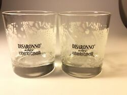 Disaronno Cocktail On the Rocks Glasses Set Of 2 Cavalli Barware Advertising $15.99