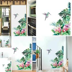 Tropical Leaves Wall Flowers Bird Bedroom Decal Wallpaper Stickers Living Room $7.66