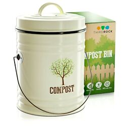Compost Bin for Kitchen Counter Compost Pail with Inner Bucket Unique Design $32.99