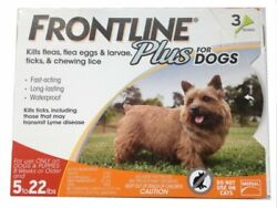 Frontline Plus For Dogs 5 22 lbs Flea amp;Tick Treatment 3 Doses $22.99