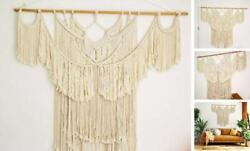 47.2quot;W × 44quot;L Macrame Wall Hanging Large Boho Wall Art Woven Tapestry Cream $76.64