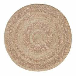 Indian Jute Braided Rug Natural Round Indian Rug All Sizes Hemp Oushak Bohemian $32.81