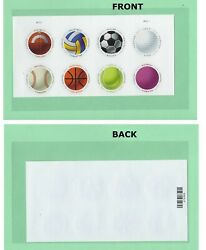 *Have A Ball. 2017 Sheet of 8 USPS Forever Postage Stamps. Top Half.