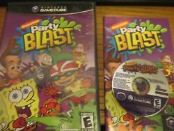 Nickelodeon Party Blast Nintendo Gamecube Complete Free Shipping $13.99