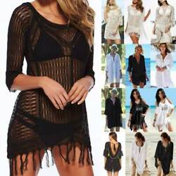 Women Bikini Cover Ups Summer Loose Mini Dress Kaftan Holiday Travel Beachwear $15.86