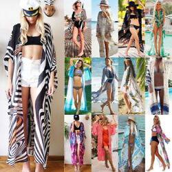 Women Bikini Cover Ups Maxi Dress Beach Open Cardigan Ladies Bohemian Swimwear $15.67