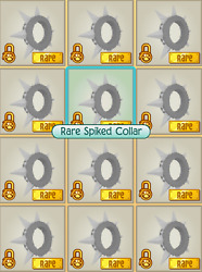 Animal Jam Black Long Spike Collar QUICK DELIVERY Solid BULK OPTIONS