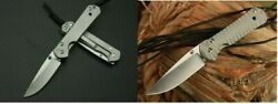 Small Sebenza 21 D2 Blades Stainless Handles Tactical Folding Pocket Knife EDC $34.99